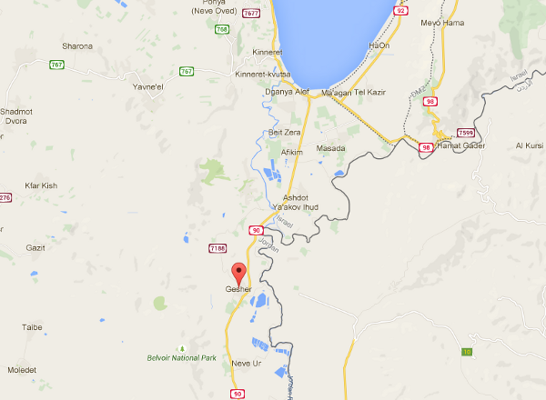 Gesher Lage map